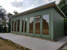 Summerhouse  home office 20x9style with large  double  glazed units  DEL & ERE