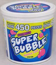Super Bubble Gum Original Flavor Candy 450 Count Tub Chewing Gum Bulk 3.96LB