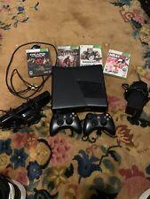 Microsoft Xbox 360 4GB Black Console. With 4 Games.