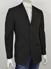 BANANA REPUBLIC Muted Brown & Blue Striped Woven Cotton 2-Btn Sportcoat 42R
