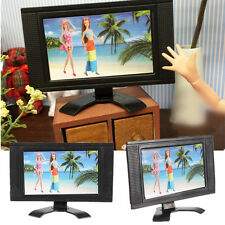 Flat Screen LCD TV Child Play for Barbie Doll Dollhouse Miniature Furniture