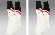 2 pairs New Nike Manchester United Football Socks Youth Boys Girls Uk 2.5-7
