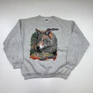 Vintage Grey Wolf Crewneck Sweatshirt Adult Large South Dakota 90s