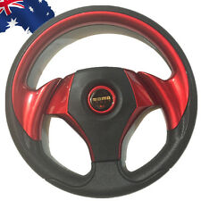 MOMO Car Steering Wheel PU Leather Sport F1 JDM Auto Red 318mm VSWH33701