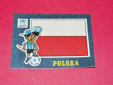 PANINI FOOTBALL 1978 ECUSSON JEAN DENIM POLSKA ARGENTINA 78 WC WM MUNDIAL