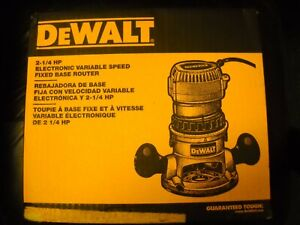 DEWALT DW618 2-1/4 HP EVS Fixed Base Router With Soft Start New