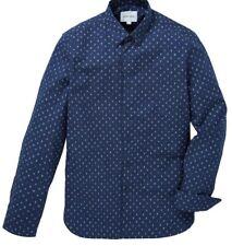 Men's Peter Werth Long Sleeve Casual Shirt Navy Blue Size XXL 2XL Bembridge