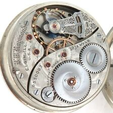 1902 ELGIN B W RAYMOND 18S 19J LEVER SET MENS POCKET WATCH.