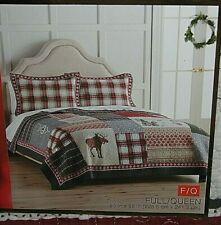 """St Nicholas Square /""""Joy/"""" Full//Queen Size 1 Quilt /& 2 Std Shams /& Accent Pillow"""