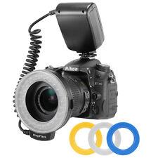 Macro LED Ring Flash RF550D for Nikon Canon DSLR Camera