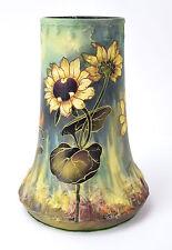 Circa 1900 Royal Bonn Hand Painted Porcelain Sunflower Vase signed Wagner