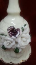 """3 D Flowered Bell About 5"""" 1/2 """" Ht"""