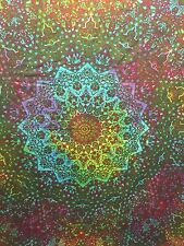 Single PSYCHEDELIC INDIAN STAR MANDALA Boho Hippy Tapestry Wall Hanging Tye Dye