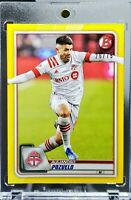 2020 Bowman MLS Alejandro Pozuelo Yellow Parallel 26/75 Toronto FC