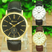 Damen Herren Leder Armband Armbanduhr Uhr Herrenuhr Damenuhr Watch NEU