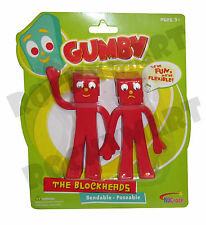 GUMBY BLOCKHEADS ( BENDABLE ) 2-Pack TV Cartoon Toy Figures Collectible RM1845