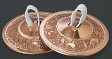 "Embossed Copper Plated Brass Finger Cymbals Zills 2.25"" diameter Belly Dancing"