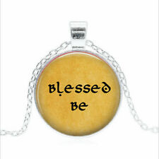 Blessed Be Tibet silver Glass dome Necklace chain Pendant Wholesale