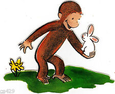 "6"" Curious george monkey rabbit wall safe sticker border cut out character"