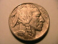 1928-D Buffalo Nickel Choice XF Lustrous Original Toned Indian Head 5 Cent Coin