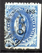 Mexico 1882 Foreign Mail Small Numeral 6¢ Blue  Hermisillo VFU MX102