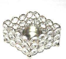 "Handcrafted Tea Light Holder Crystal 2.5""X3"" Wedding Centerpiece Christmas Gift"