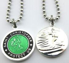 Saint Christopher Surf Medal Protector of Travel sg-bk Seagreen-Black Medium