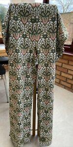 Colourful stretch leggings, paisley pattern size 2XL