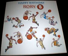 HANDMADE PERSONALISED BIRTHDAY CARD BASKETBALL SPORT 13TH 16TH 18TH 21ST ETC