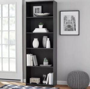 """Mainstays 71"""" 5 Shelf BROWN Bookcase"""