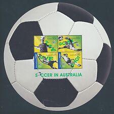 Australien Block 61 postfrisch / Fußball (10498) ...............................