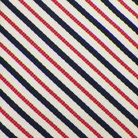 VINEYARD VINES Mens Ivory Pink Navy STRIPED Handmade Woven Silk Cotton Tie NWT