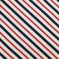 VINEYARD VINES Ivory Pink Navy STRIPED Handmade Woven Silk Cotton Tie NWT