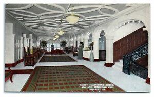 Lobby, Gladstone Hotel, Chicago, IL Postcard *6S(2)32