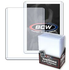 25 Rigid Plastic Baseball Card Topload Holder and Card Sleeves Industry Standard
