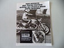 advertising Pubblicità 1975 BREMBO e MOTO GUZZI 850 T