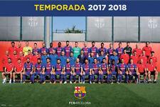 FC Barcelona 2017/18 Official Team Portrait POSTER La Liga Spain MESSI, SUAREZ +