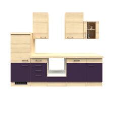 Küchenblock ohne Geräte Küchenzeile Einbauküche ohne Elektrogeräte Küche 280 cm