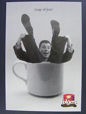Folgers Whole Bean Coffee Color Promotional Promo Advertising Postcard