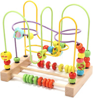 Wondertoys Preschool Fruit Bead Maze Roller Coaster Educational Toys for 1 2 3 Y