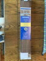 """Kenney Truly CordFree Bamboo Roman Shade 19-23"""" x 64"""" Color:  Brown BRAND NEW!"""