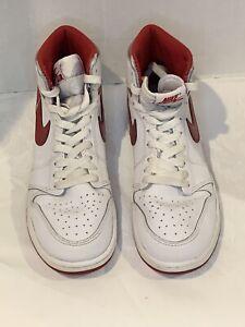 Air Jordan Retro 1 High Og Metallic Red Rare 2017 Size 6.5y Gs Red White Chicago