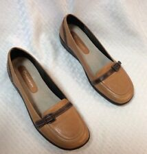 EUC Rockport Womens Dress Flats Slip On Mules. Size 7M. Color Brown