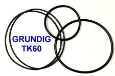 SET CINGHIE GRUNDIG TK 60 REGISTRATORE A BOBINE BOBINA NUOVE FRESCHE FORTI TK60