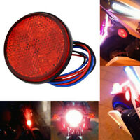 Car Truck Trailer Pickup LED Round Reflector Rear Tail Brake Stop Marker Li HO