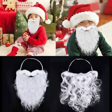 White Santa Claus Beard & Mustache Holiday Christmas Party Costume Accessories