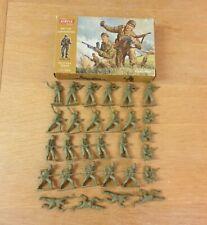 Airfix 1/32 WWII British Commandos 29 Plastic Figures 1st Issue Brown Box
