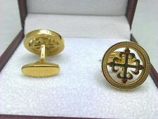 Cufflinks Gemelli Patek Philippe type watch lover 18K yellow gold plated Gemelos