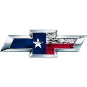 2 Distressed Texas Flag US Universal Chevy Silverado Vinyl Sheets Emblem Overlay
