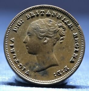 VICTORIA, COPPER HALF FARTHING, 1843, EXCELLENT EXAMPLE, SEE PHOTOS.